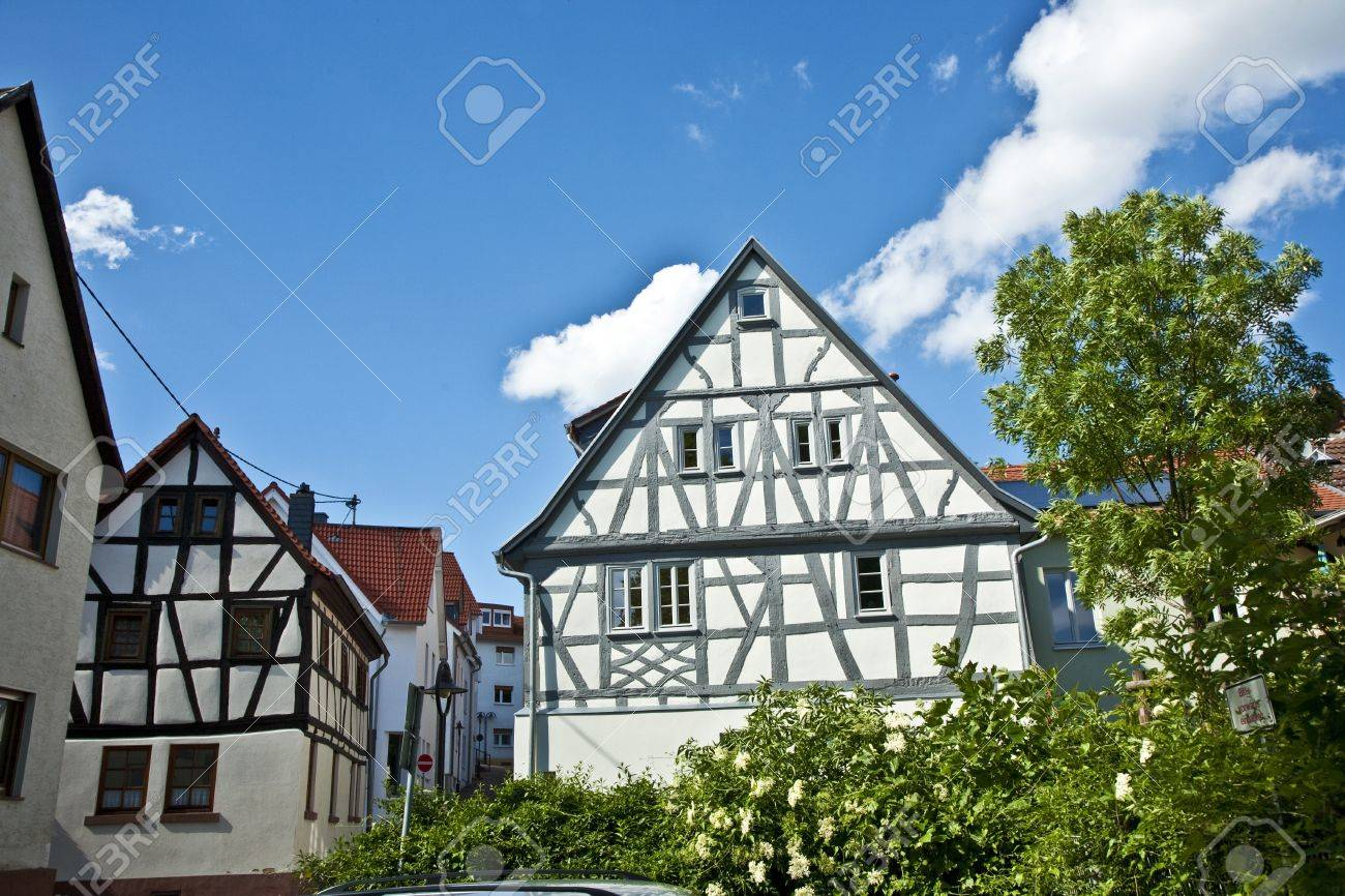 old german renovated half timbered houses Stock Photo - 13761361