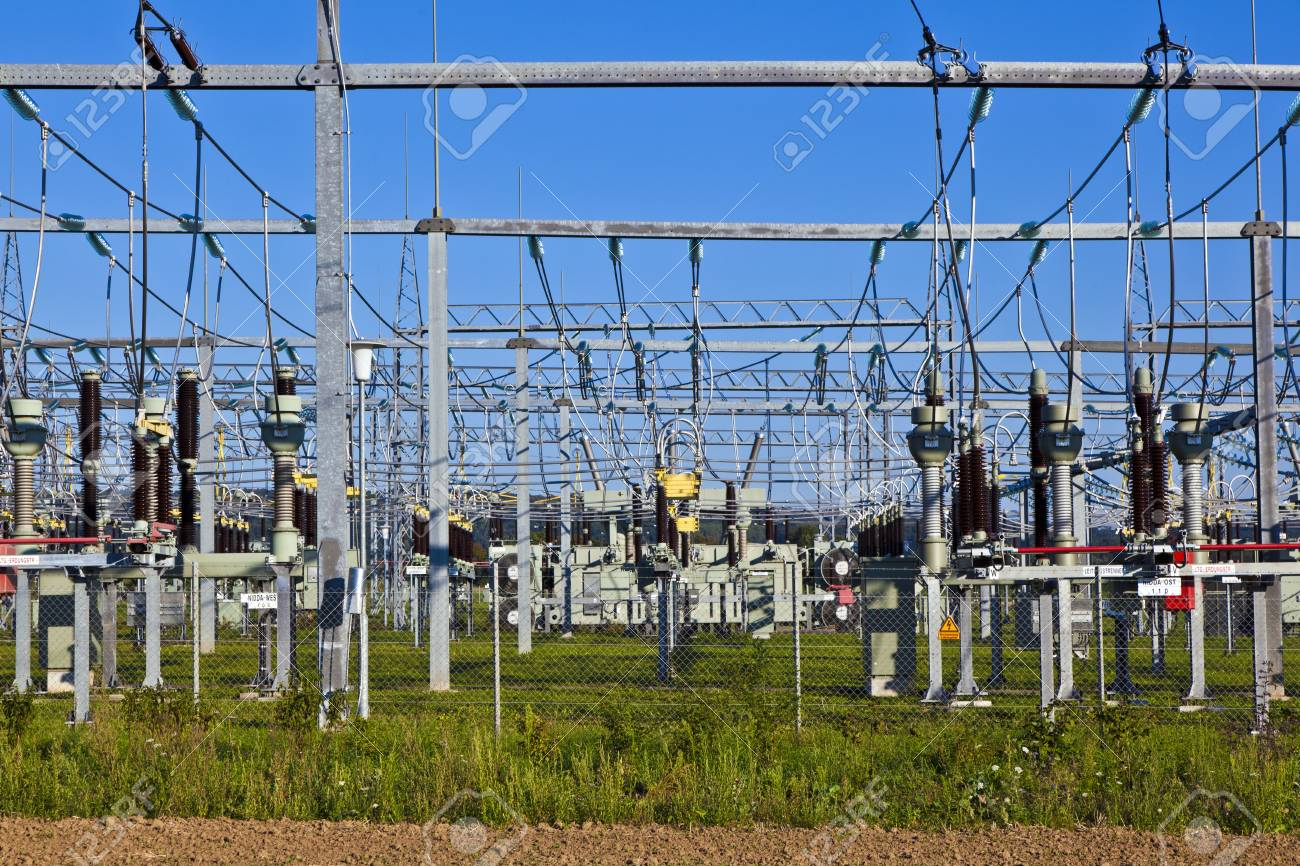 electrical power plant in beautiful colorful meadow Stock Photo - 13705799