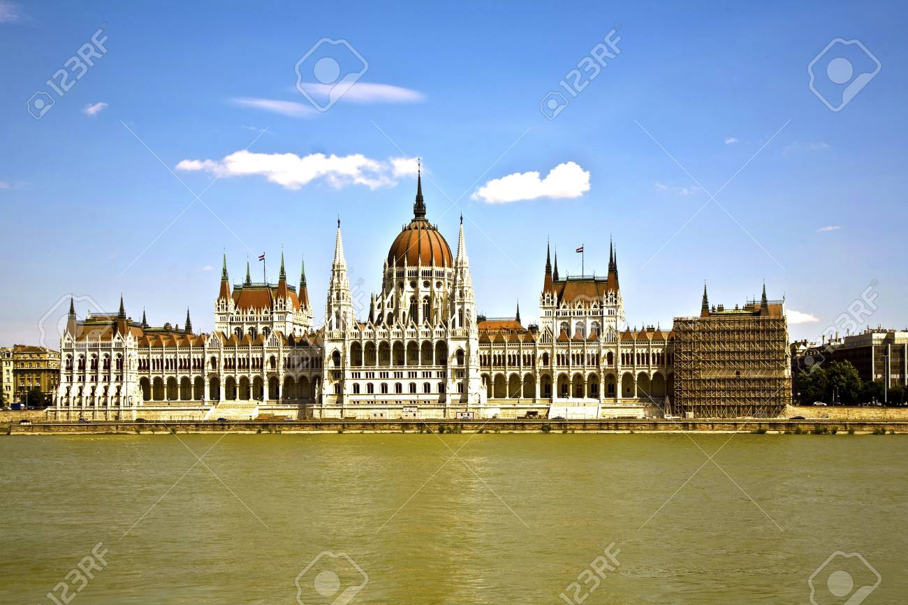 famous parliament of Hungary in Budapest, view over river danubia Stock Photo - 13743982