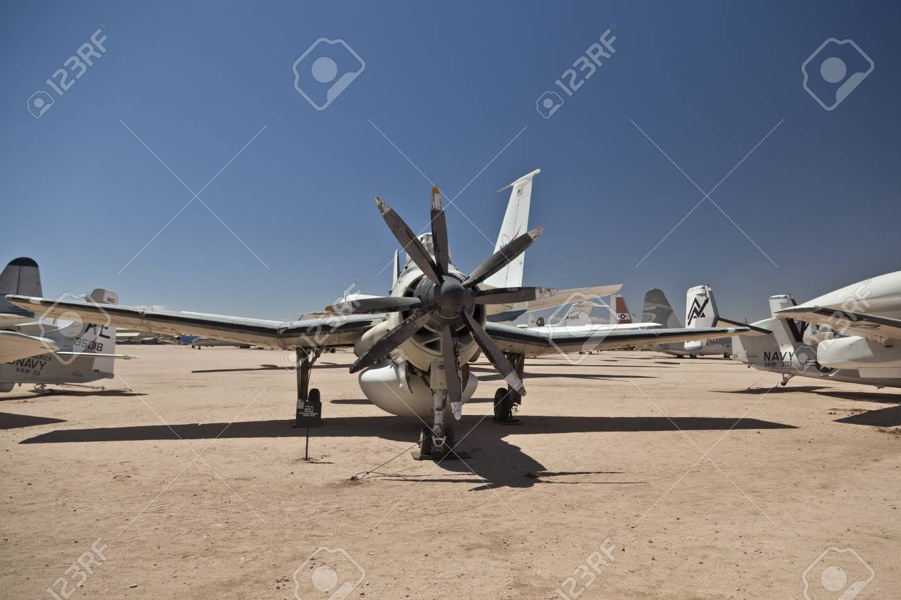 TUSCON, USA - JULY 14: visiting the Pima Air and space Museum at July 14, 2012 in Tuscon, USA. The Fairey AEW 3 Gannet was in use from 1960 to 1978. Stock Photo - 14141935