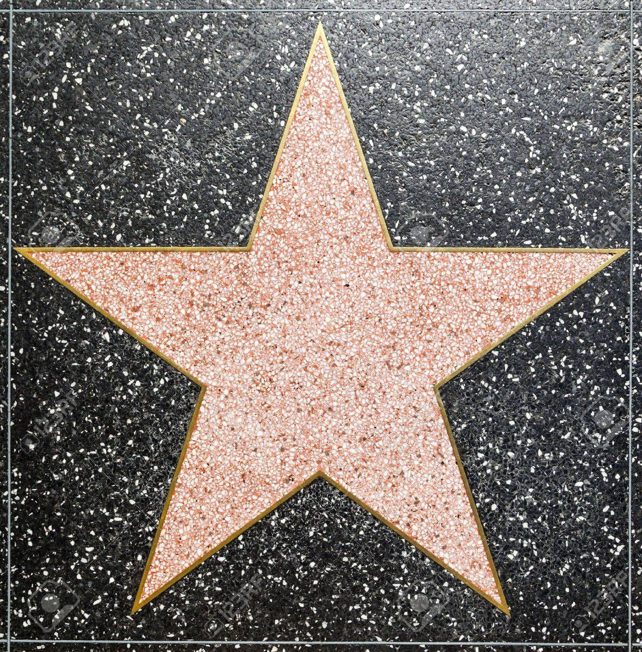 HOLLYWOOD - JUNE 26: empty star on Hollywood Walk of Fame on June 26, 2012 in Hollywood, California. This star is located on Hollywood Blvd. and is one of 2400 celebrity stars. Stock Photo - 14418403
