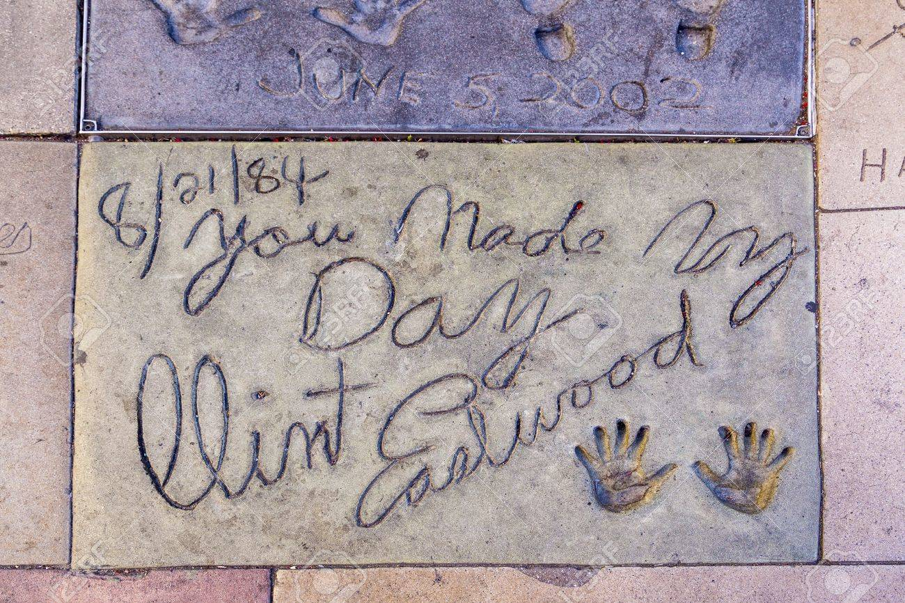 LOS ANGELES - JUNE 26: Handprint Of Clint Eastwood In Hollywood ...