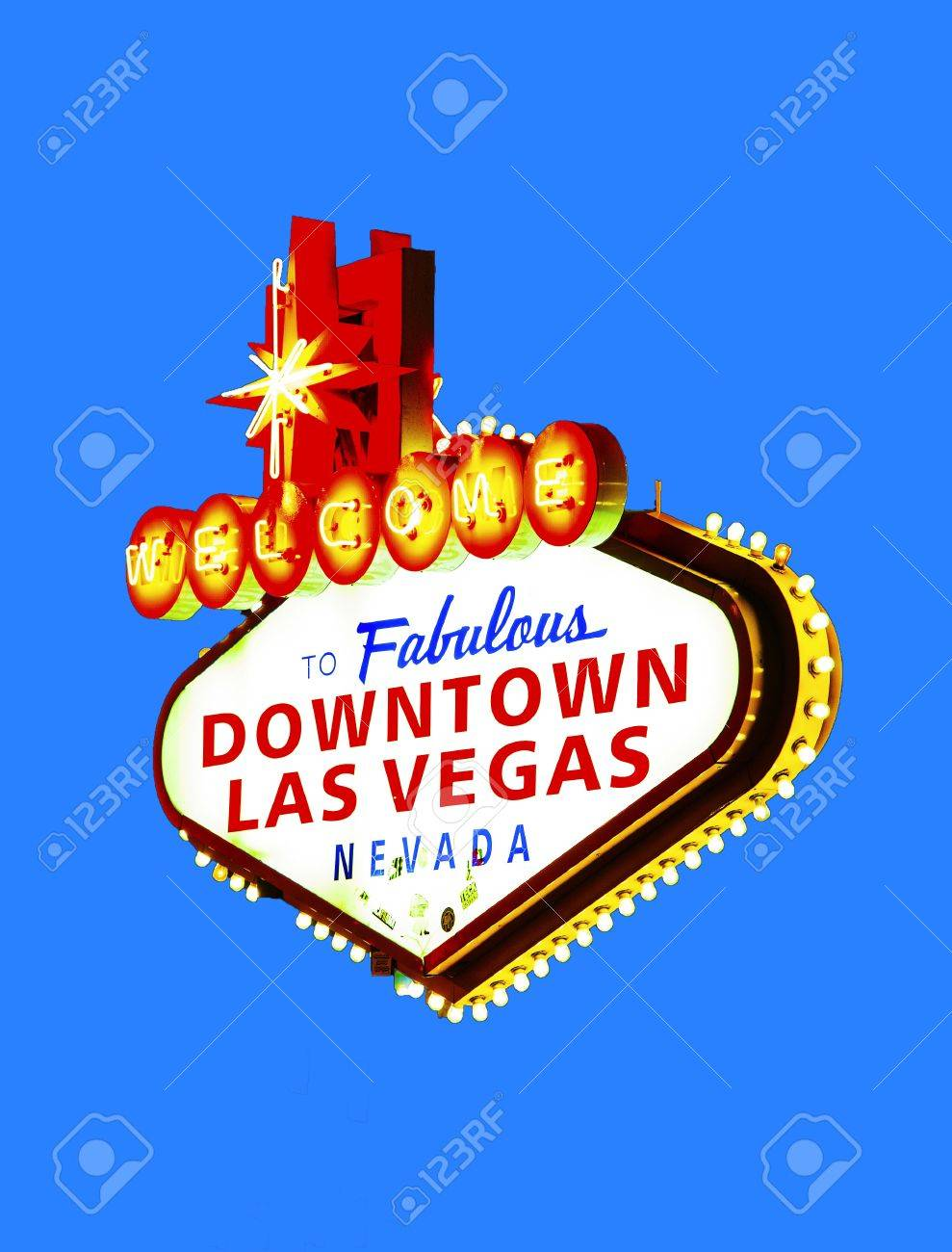 The downtown Las Vegas sign at night Stock Photo - 14500405