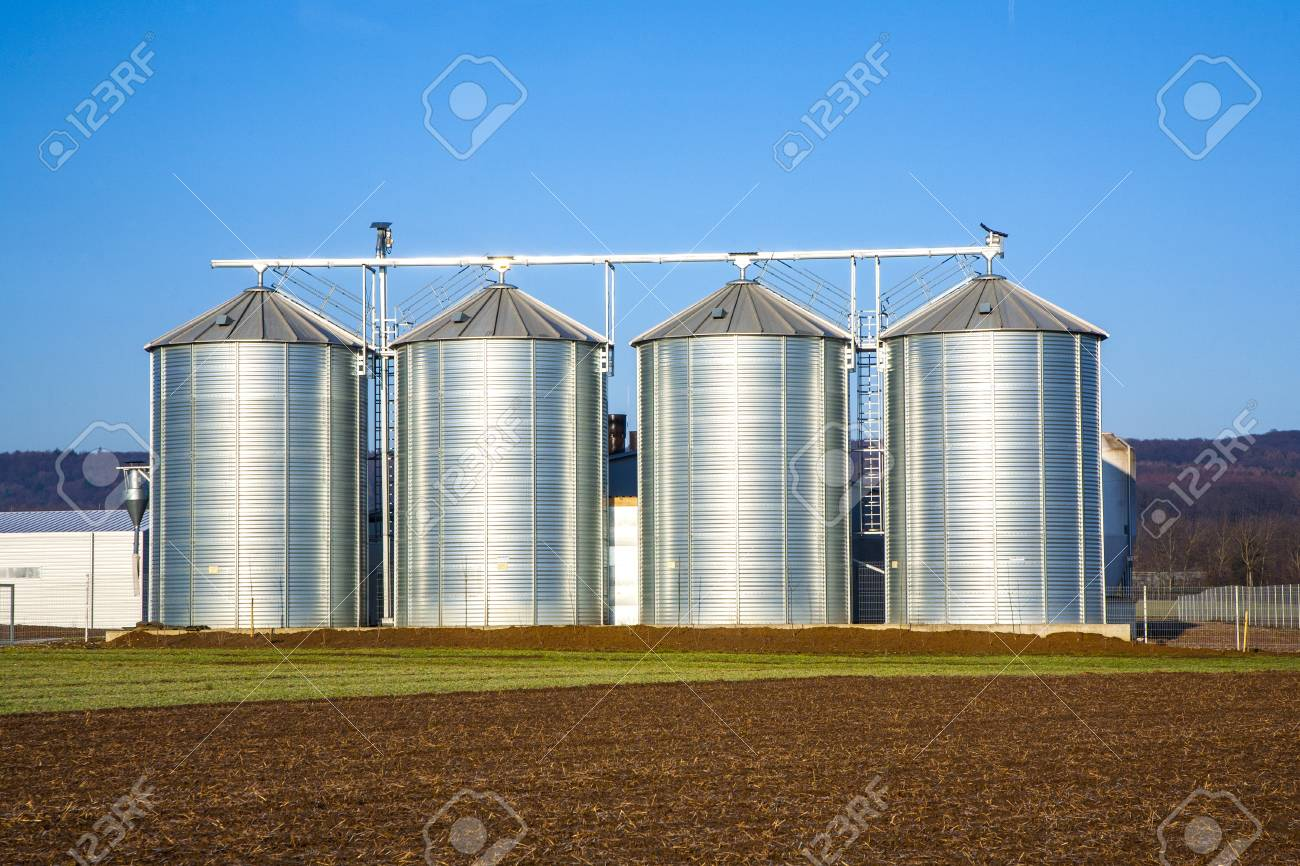 beautiful landscape with silo and  blue sky Stock Photo - 16953879