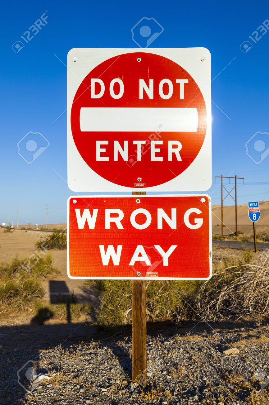 red do not enter Sign at the highway with blue sky Stock Photo - 17186659