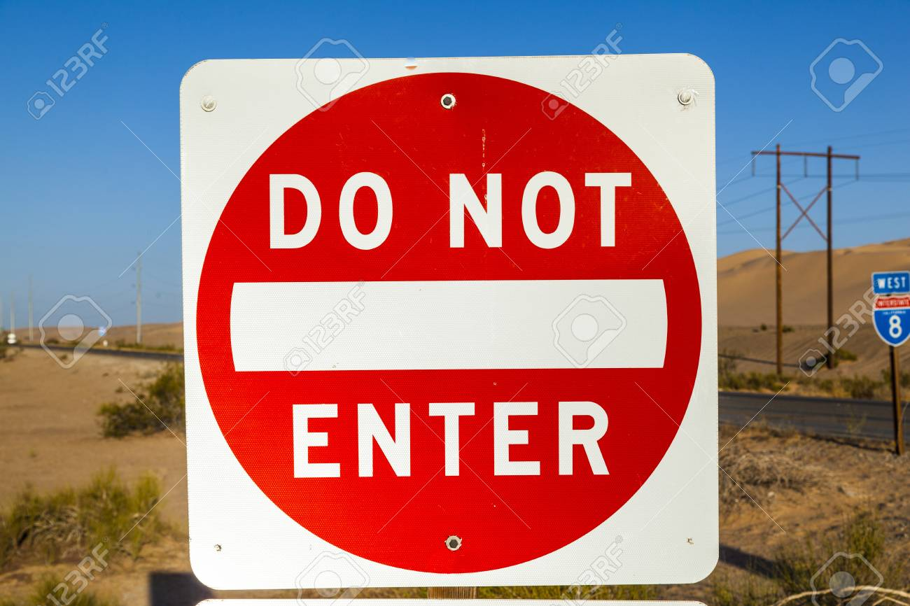 red do not enter Sign at the highway with blue sky Stock Photo - 17186655