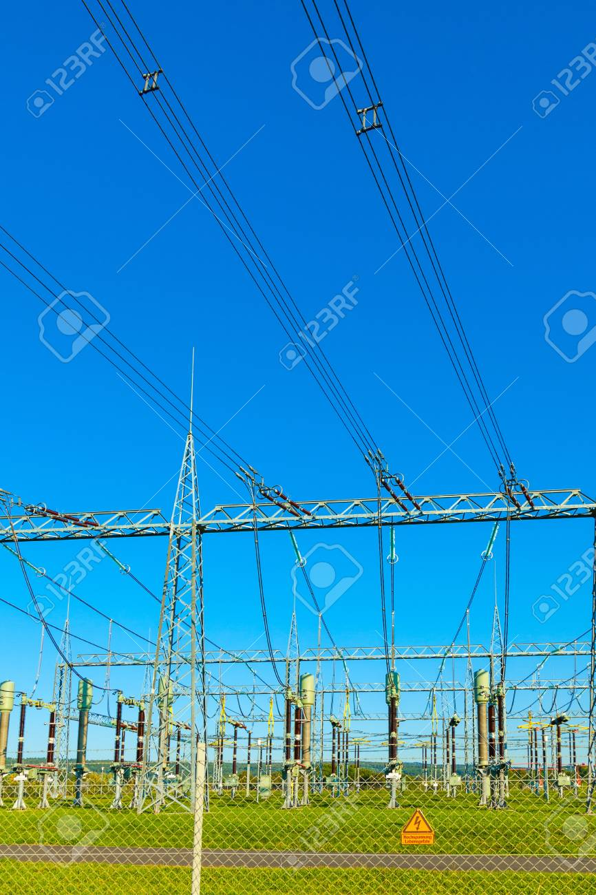 electrical power plant in beautiful colorful meadow Stock Photo - 17648629