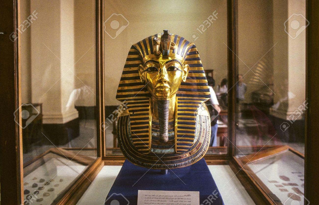 Tutankhamun&#39-s Golden Mask Stock Images - Image: 34786444