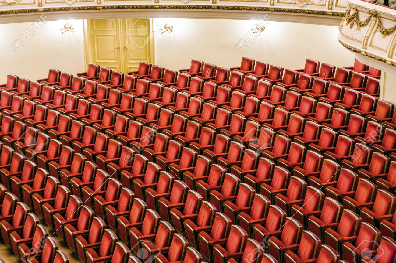 DRESDEN, GERMANY - MAY 5: Semper Opera from inside with tourists on May 5,2008 in  Dresden, Germany.he opera house was originally built by the architect Gottfried Semper in 1841. Stock Photo - 18889103
