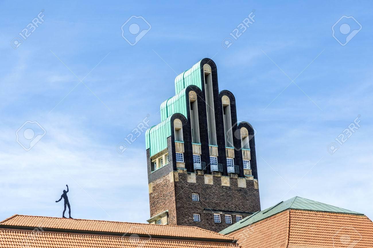 Hochzeitsturm tower at Kuenstler Kolonie artists colony in Darmstadt Germany - 30056836