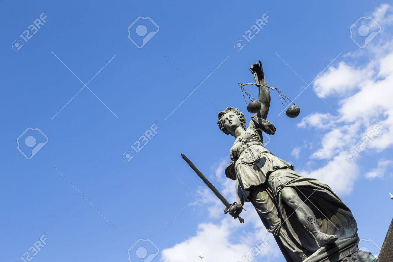 Statue of Lady Justice (Justitia) in Frankfurt, Germany - 35529032