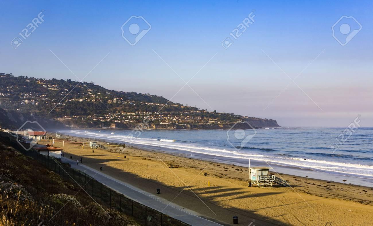 beach in beautiful morning light at Redondo beach, California, Los Angeles - 61594272