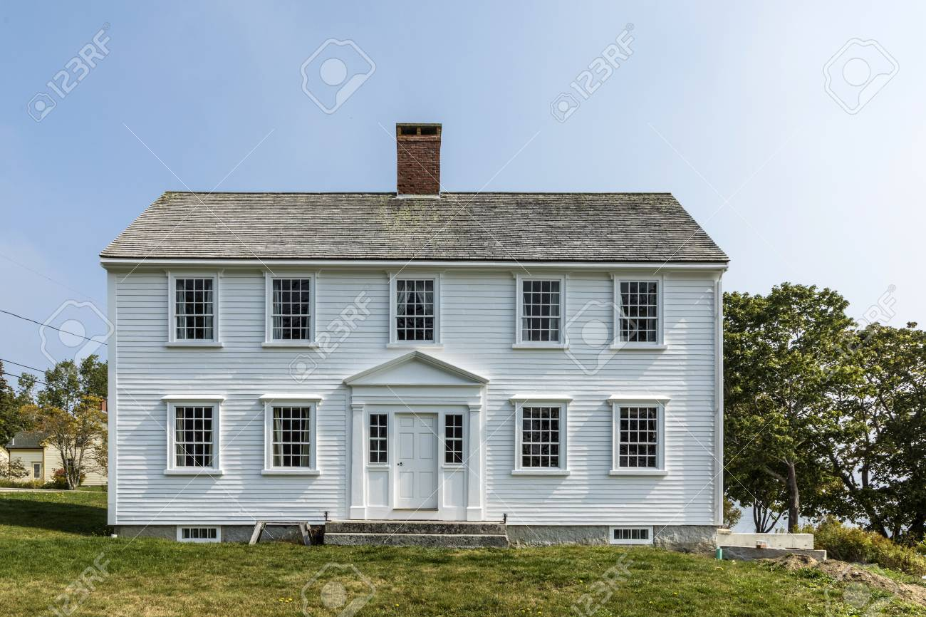 CASTINE, USA - SEP 17, 2017: John Perkins House is a historic