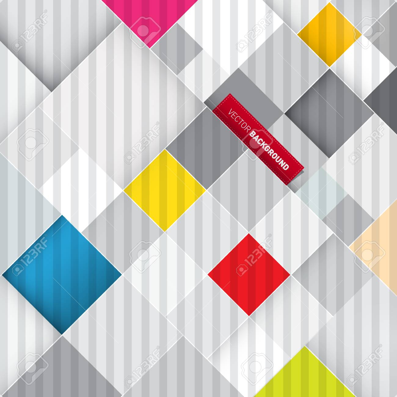 Abstract Retro Colorful Square Background Stock Vector - 23965375