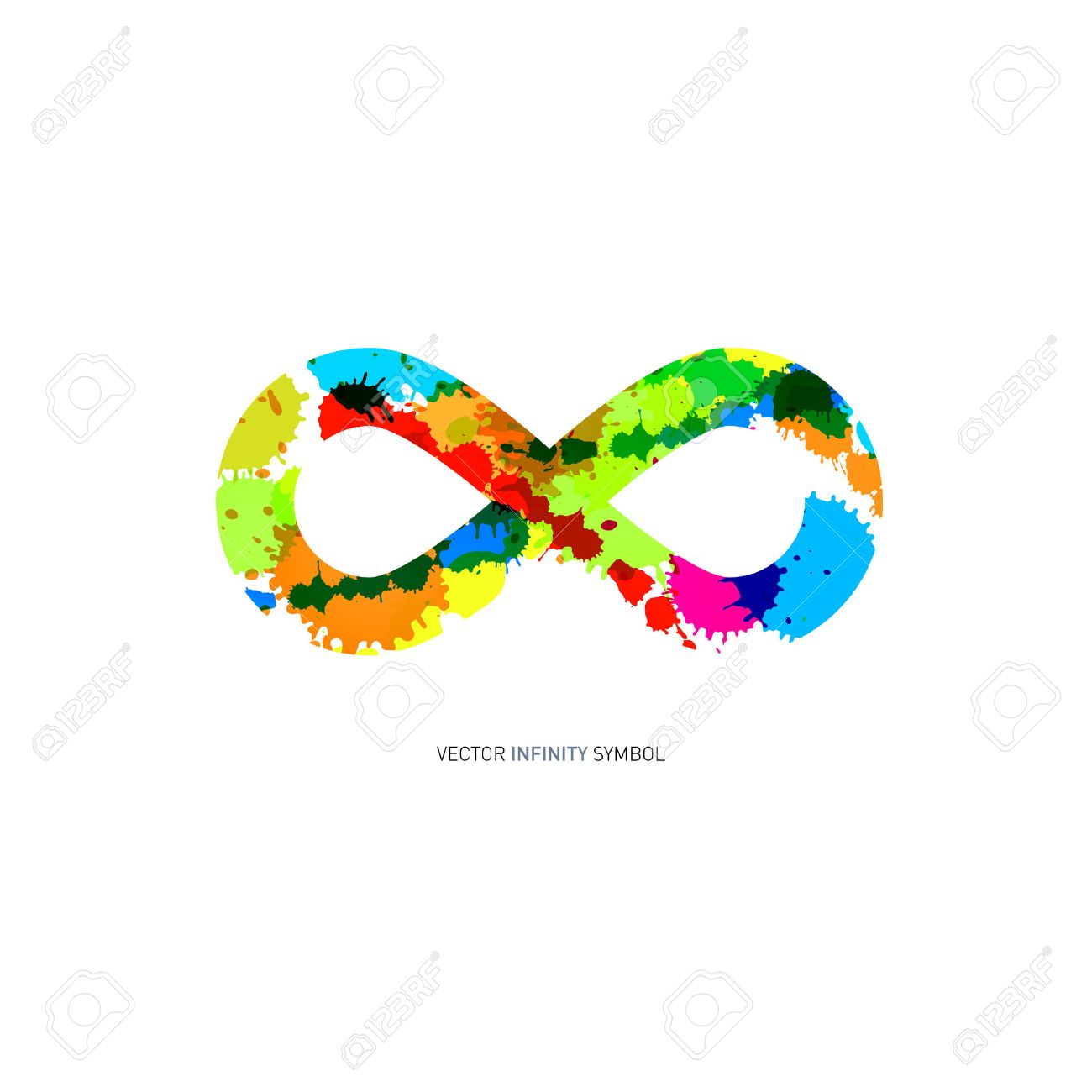 41026 infinity symbol cliparts stock vector and royalty free colorful abstract splash infinity symbol on white background buycottarizona