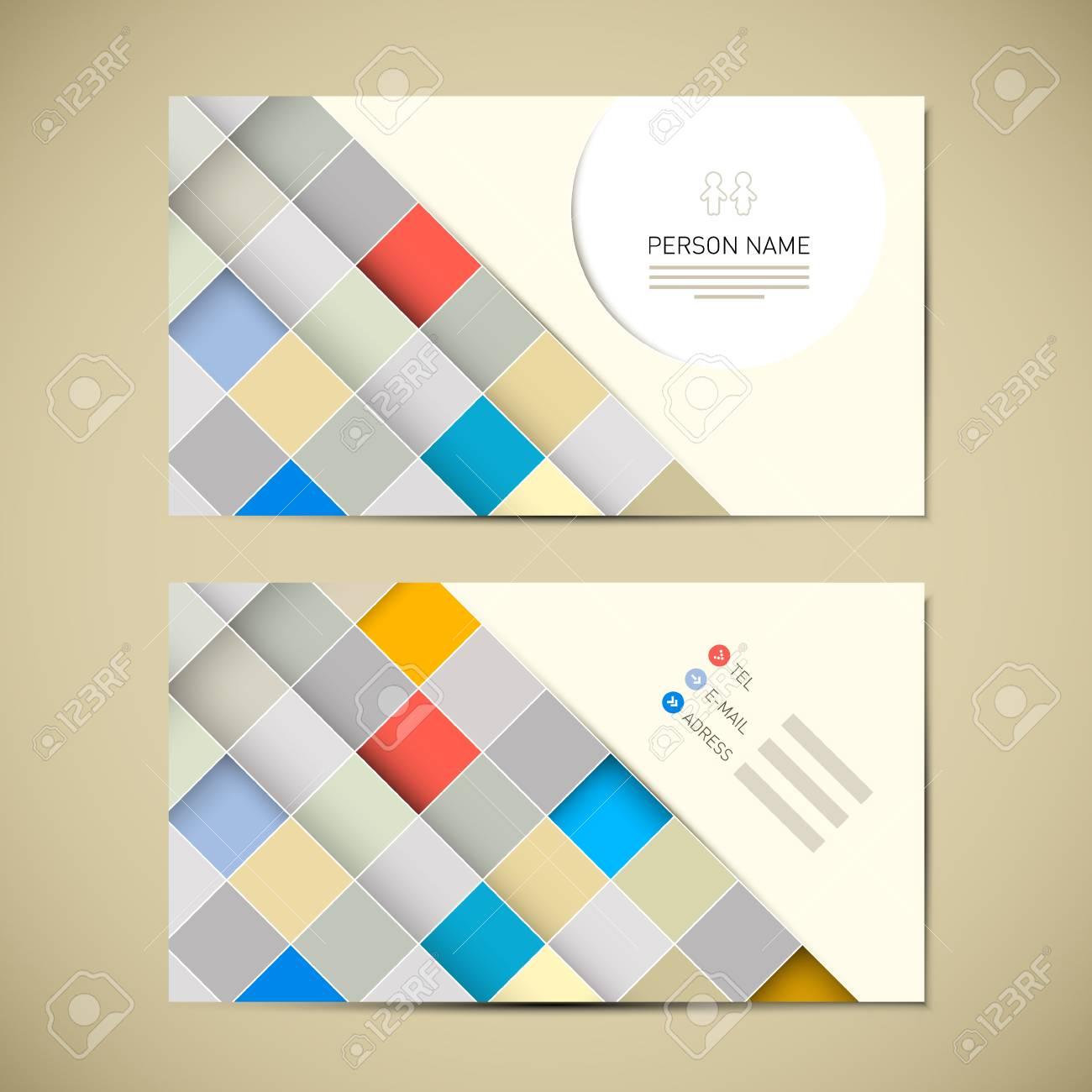 Modele Retro Papier Carte De Visite Clip Art Libres Droits