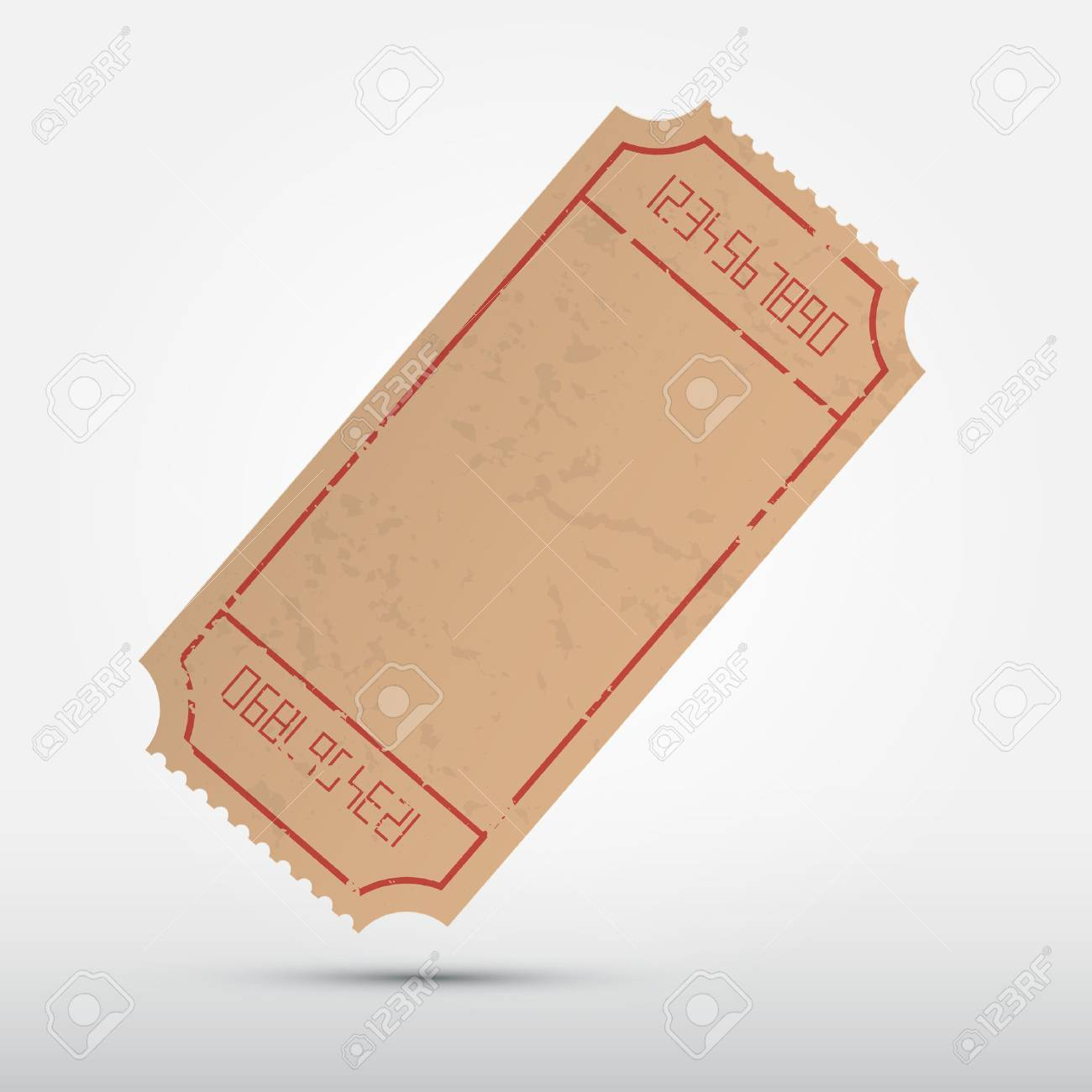 Vector Empty Ticket Illustration Isolated on Grey Background - 27165079