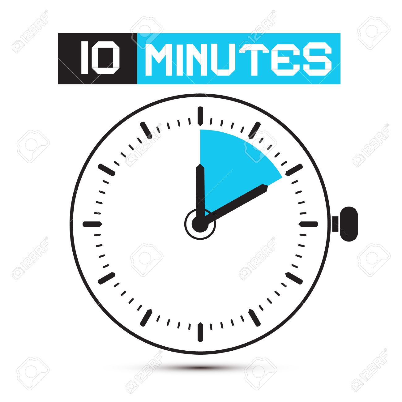 ten minutes stop watch clock illustration stock vector 27787897