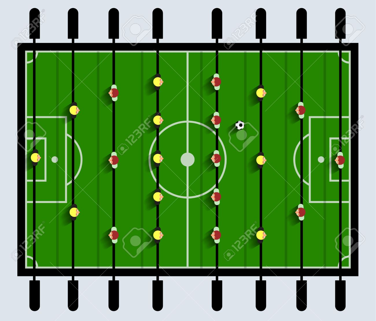 Top View Table Football Game Royalty Free Cliparts Vectors And