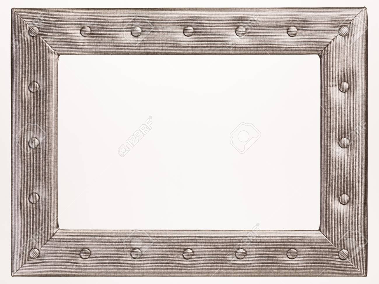 A Blank Leather Picture Frame On White Background Stock Photo ...