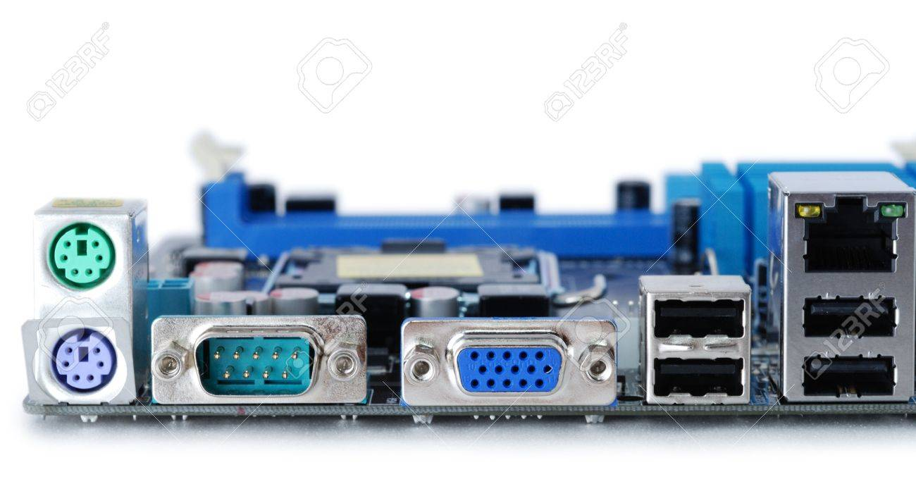 Computer Motheboard Electronic Components On Circuits Board Stock Circuit With Electronics Royalty Free Photo 8876602
