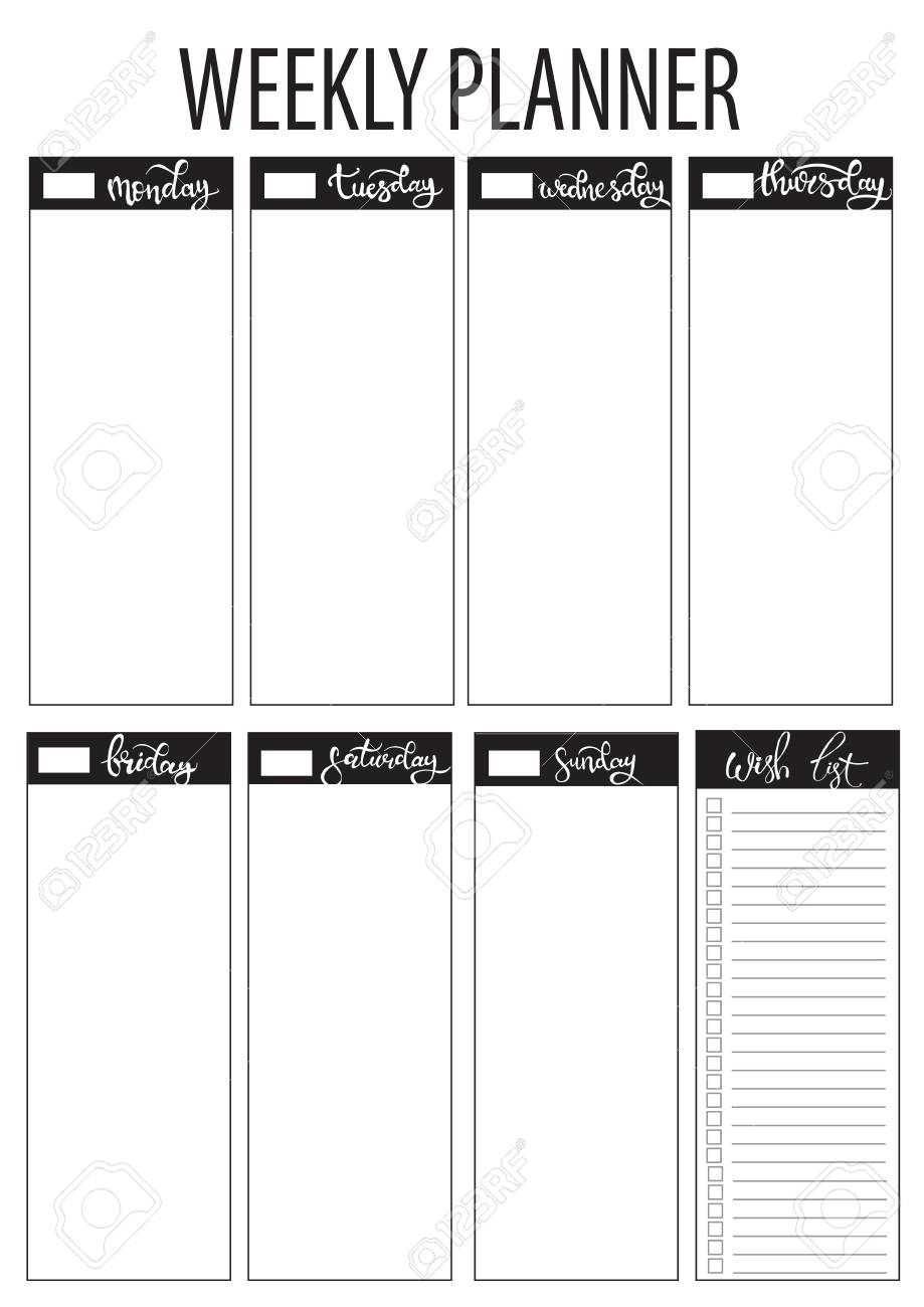 photograph about Weekly Journal Template called weekly planner blank toward do template bullet magazine