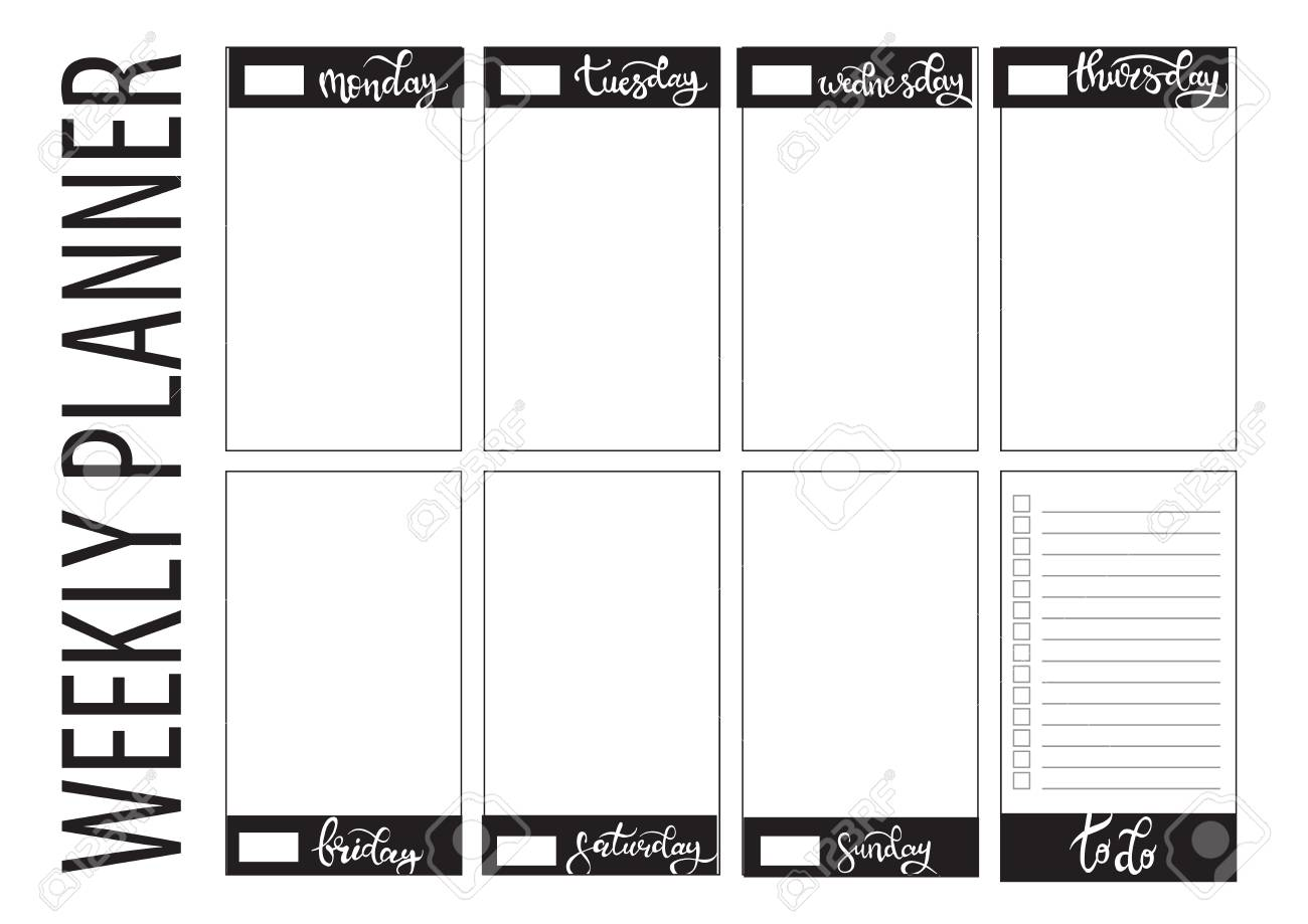 photo regarding Week Planner Printable known as weekly planner blank in direction of do template bullet magazine