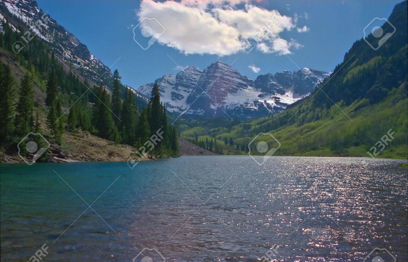 Rocky Mountain National Park features majestic mountain views, a variety of wildlife, varied climates and environments�from wooded forests to mountain tundra�and easy access to back-country trails and campsites. The park is located north-west of Boulder, Stock Photo - 2859031