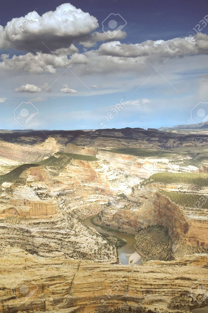 Dinosaur National Monument is a U.S. National Monument located on the southeast flank of the Uinta Mountains on the border between the American states of Colorado and Utah at the confluence of the Green and Yampa Rivers. Stock Photo - 2973028