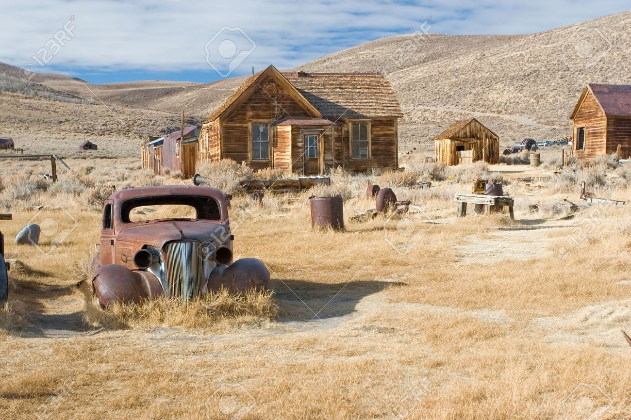 Bodie, California is a ghost town east of the Sierra Nevada mountain range in Mono County, California Stock Photo - 3136762