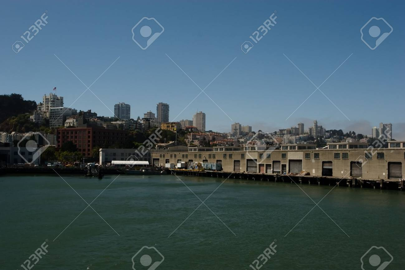 The Port of San Francisco lies on the western edge of the San Francisco Bay at the Golden Gate Stock Photo - 3542437