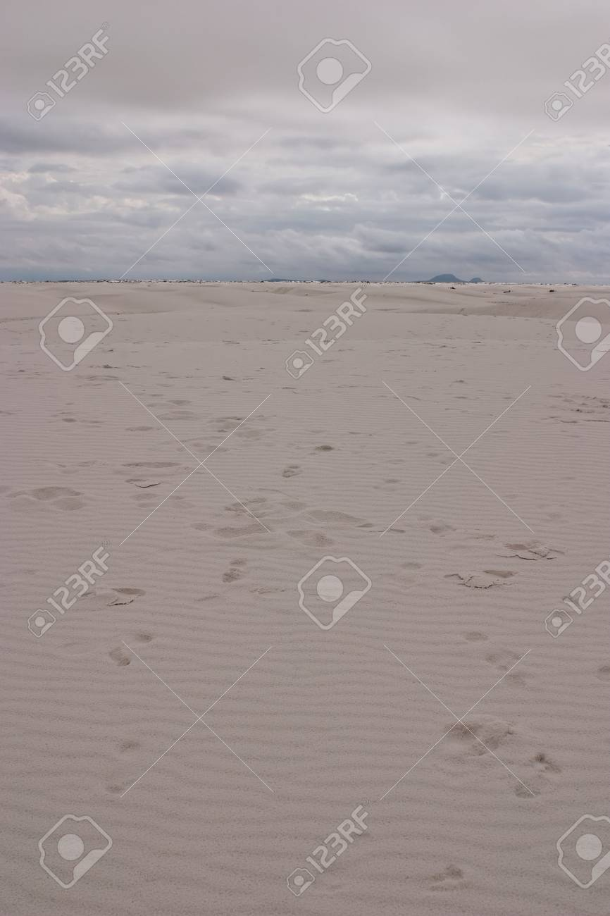 White Sands National Monument is a U.S. National Monument located about 25 km (15 miles) southwest of Alamogordo in western Otero County and northeastern Dona Ana County in the state of New Mexico Stock Photo - 4793390