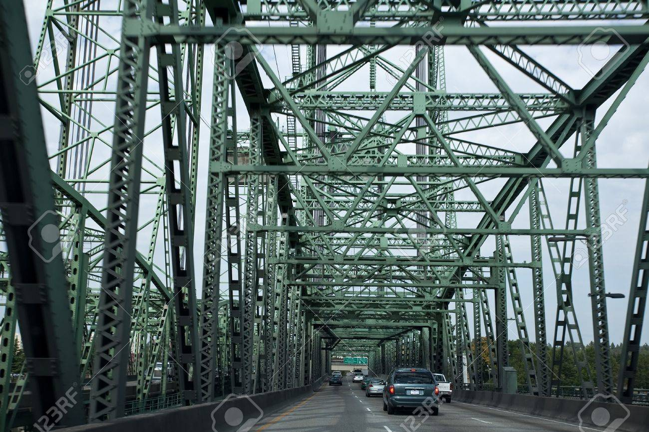 Interstate Bridge is a pair of nearly identical steel vertical