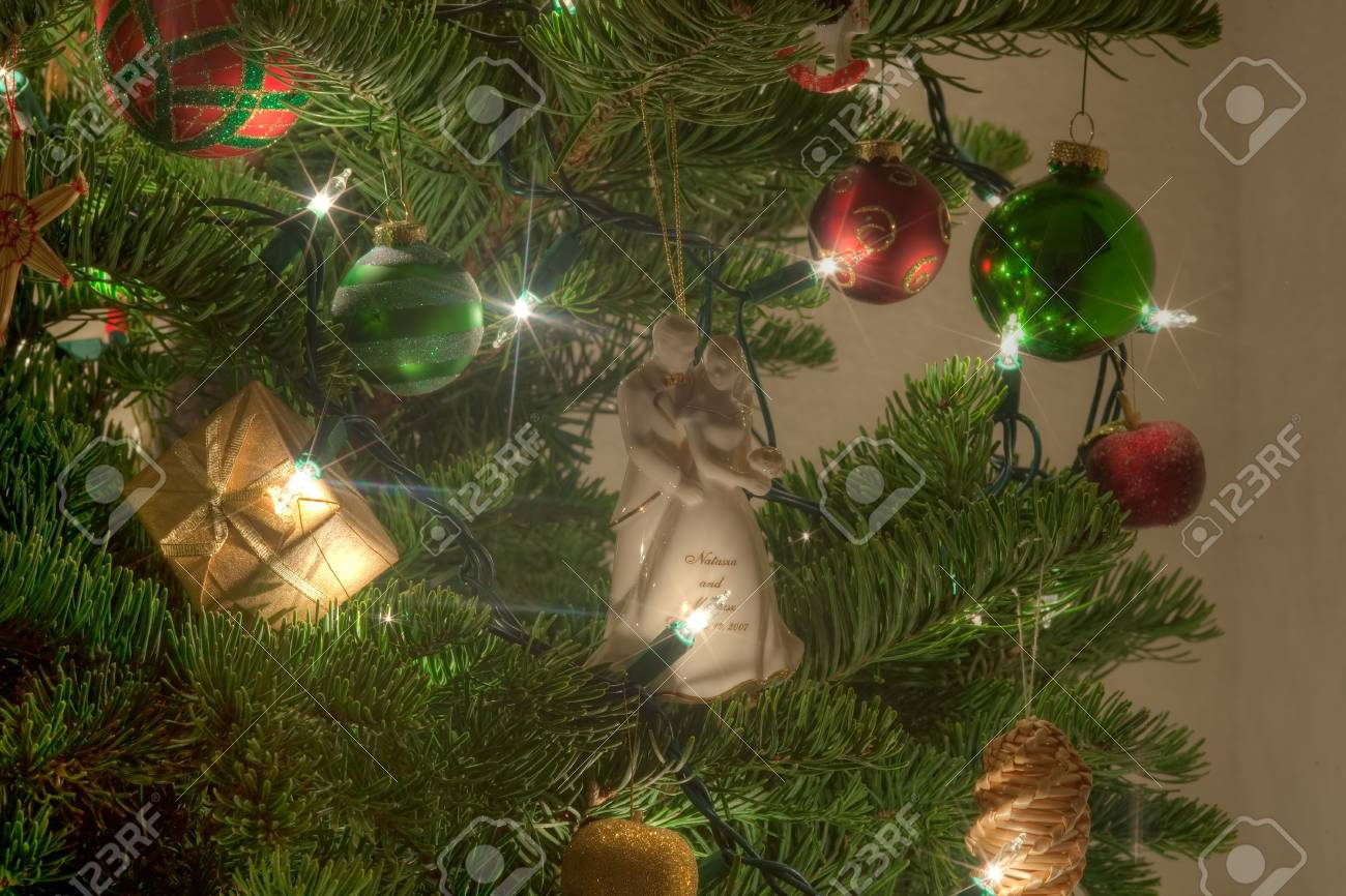 Real Weihnachtsbaum.Stock Photo