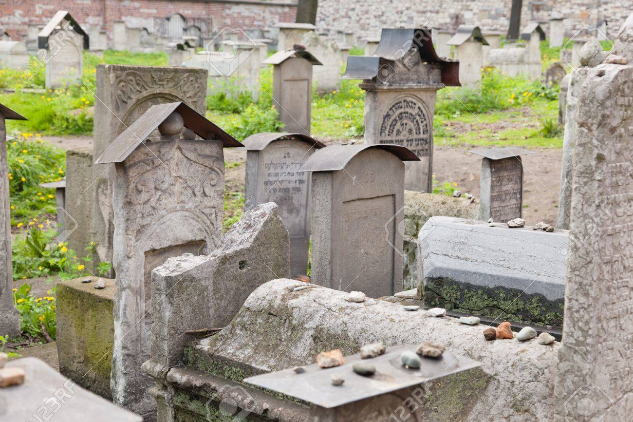 Old Jewish cemetery is located beside the Remuh Synagogue at 40 Szeroka Street in the historic Kazimierz district of Kraków. Stock Photo - 11152793