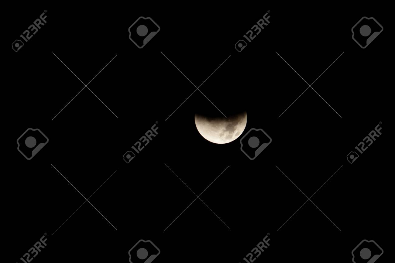Lunar eclipse occurs when the Moon passes behind the Earth so that the Earth blocks the Sun's rays from striking the Moon. Stock Photo - 11980053