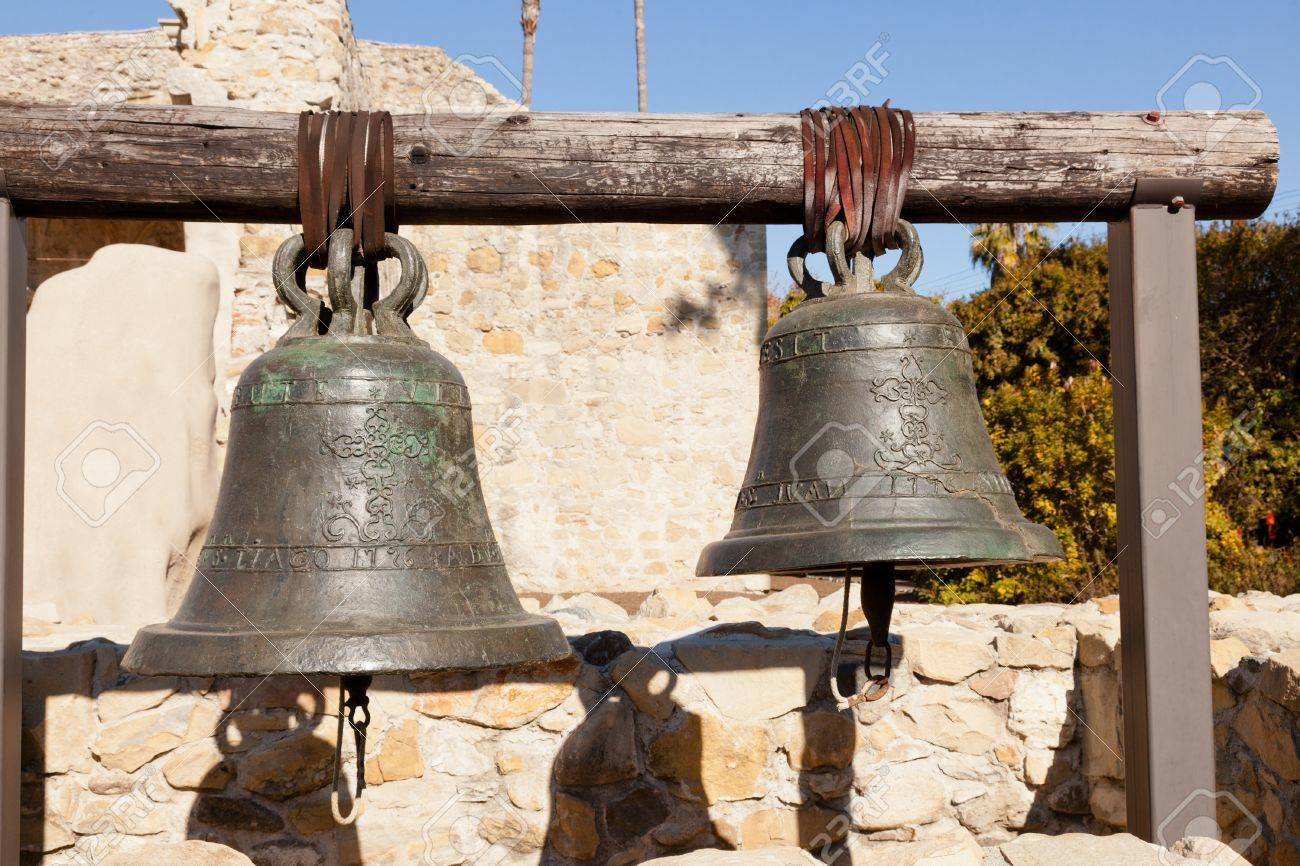 Mission San Juan Capistrano bells Stock Photo - 15828730