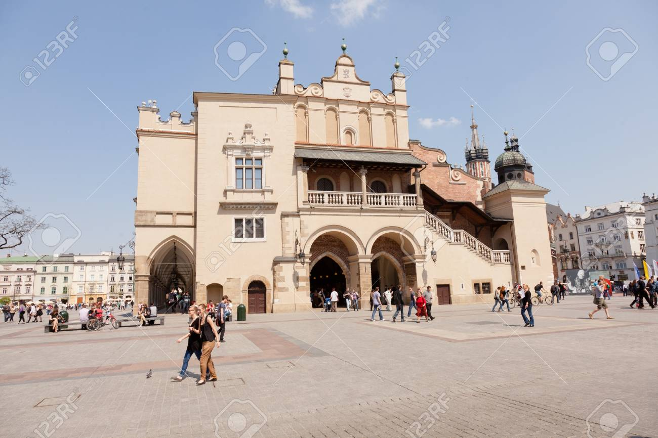 Renaissance Sukiennice (Cloth Hall, Drapers' Hall) in Kraków, Poland, is one of the city's most recognizable icons. Stock Photo - 18777493