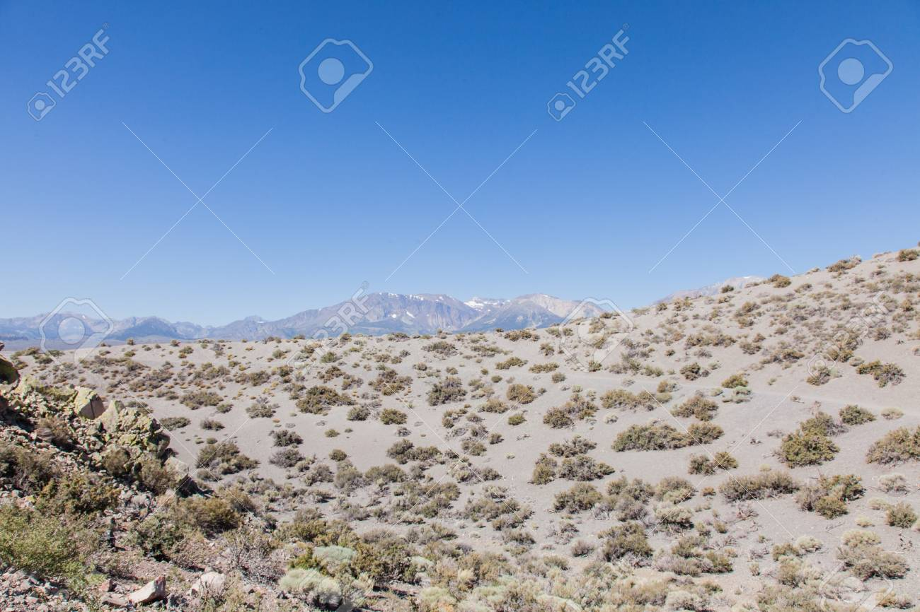 Panum Crater is a volcanic cone that is part of the Mono-Inyo Craters, a chain of recent volcanic cones south of Mono Lake and east of the Sierra Nevada, in California, USA Stock Photo - 19575152