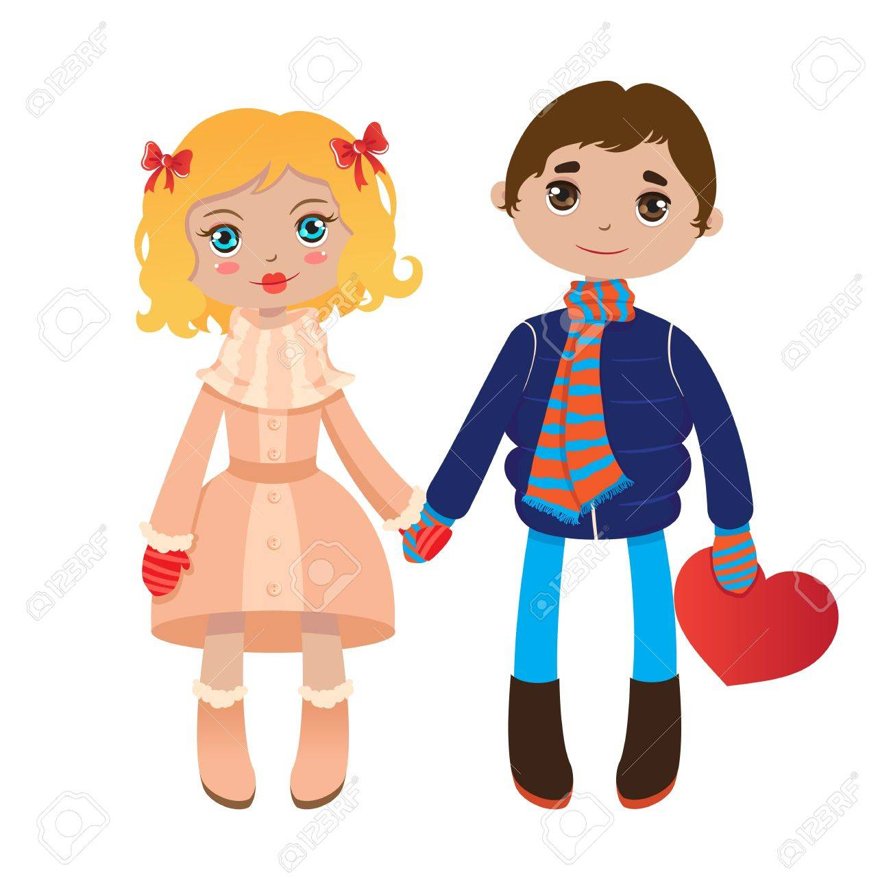 lovers boy and girl holding hands royalty free cliparts vectors rh 123rf com Holding Hands Clip Art Boy and Girld Holding Hands Clip Art Boy and Girld