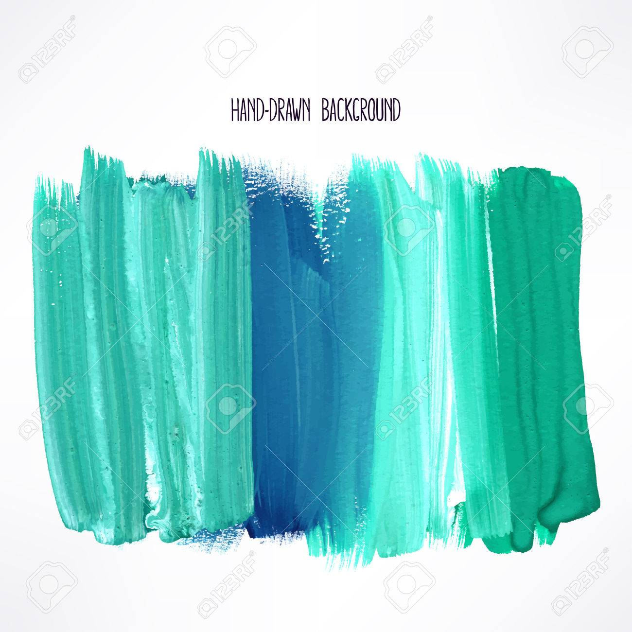 background with blue and green strokes. hand-drawn illustration - 40277904