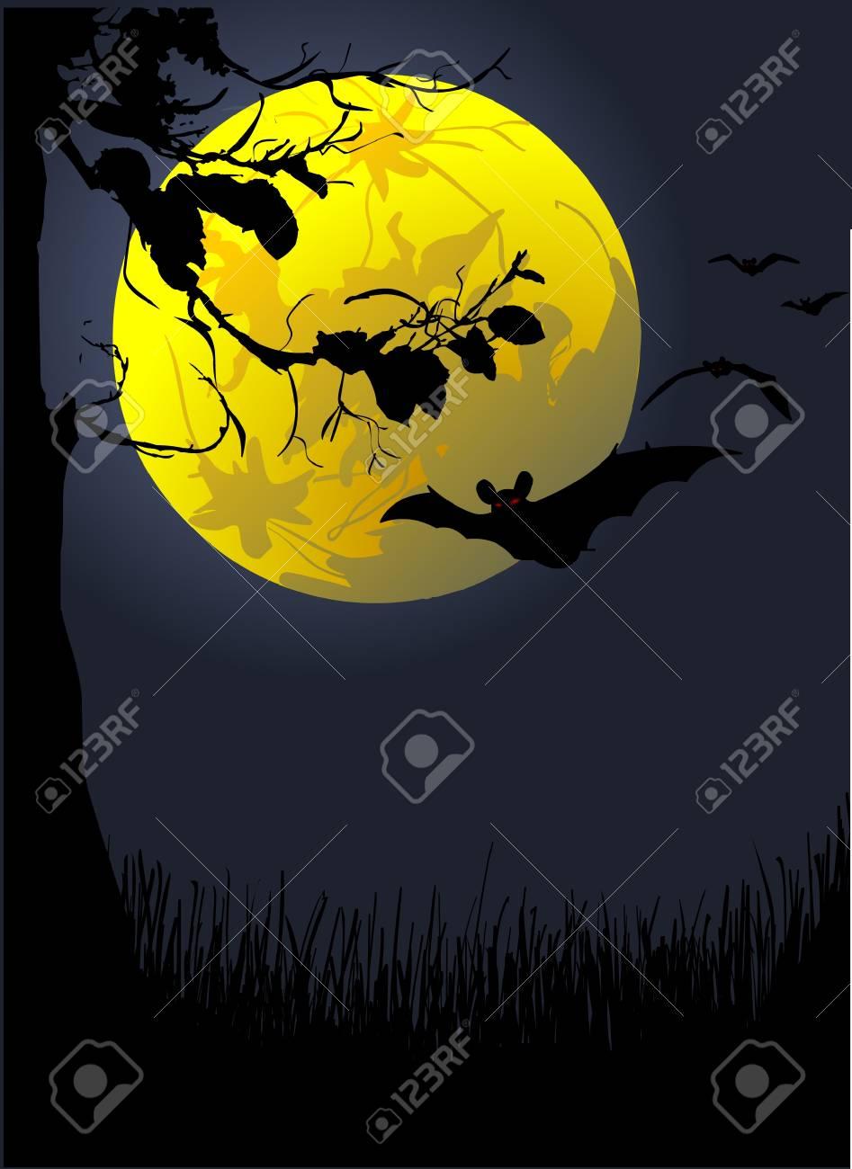 halloween background Stock Vector - 7866698