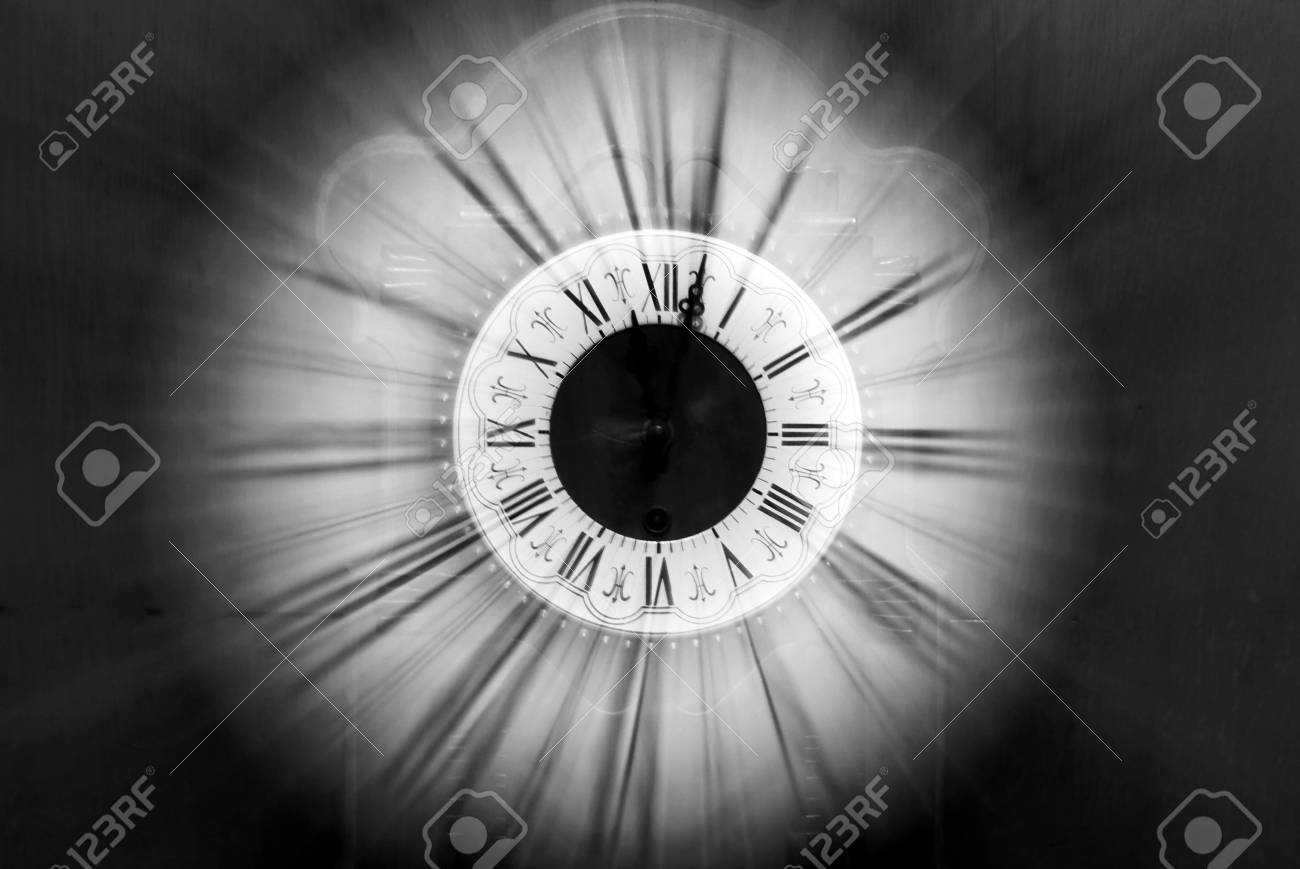 Vintage clock blurred in Stock Photo - 3656793