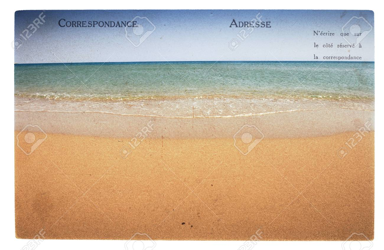 Old Vintage Postcard With Seascape And Space For Text Stock Photo, Picture  And Royalty Free Image. Image 20607974.