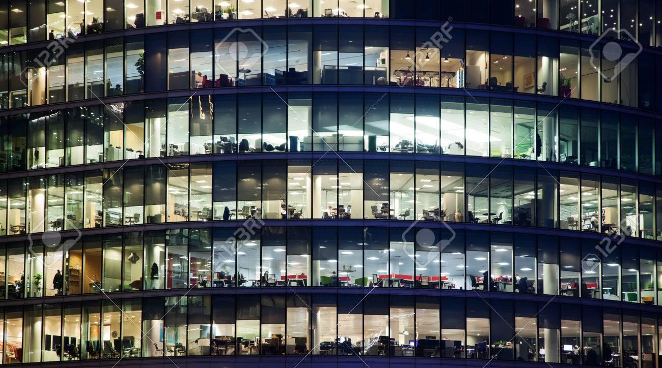 windows of Skyscraper Business Office, Corporate building in London City, England, UK - 72345826