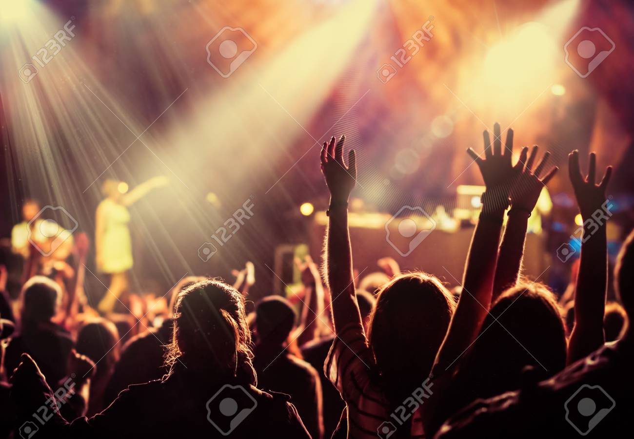 crowd at concert - summer music festival - 82653777