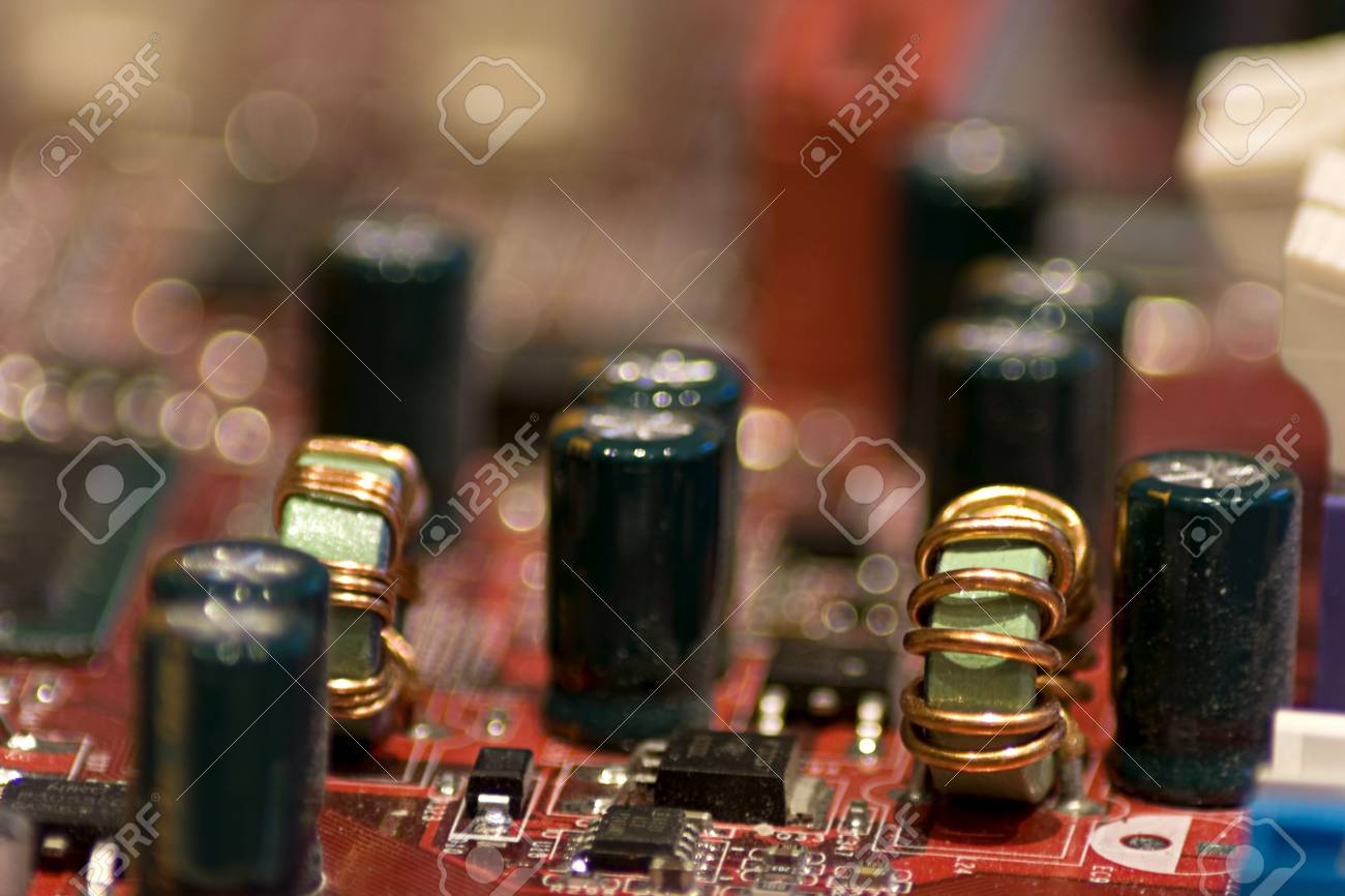 Close-up picture of Computer Circuit Board. Stock Photo - 2740582