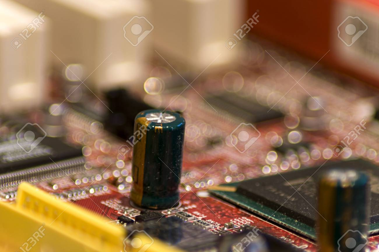 Close-up picture of Computer Circuit Board. Stock Photo - 2740588