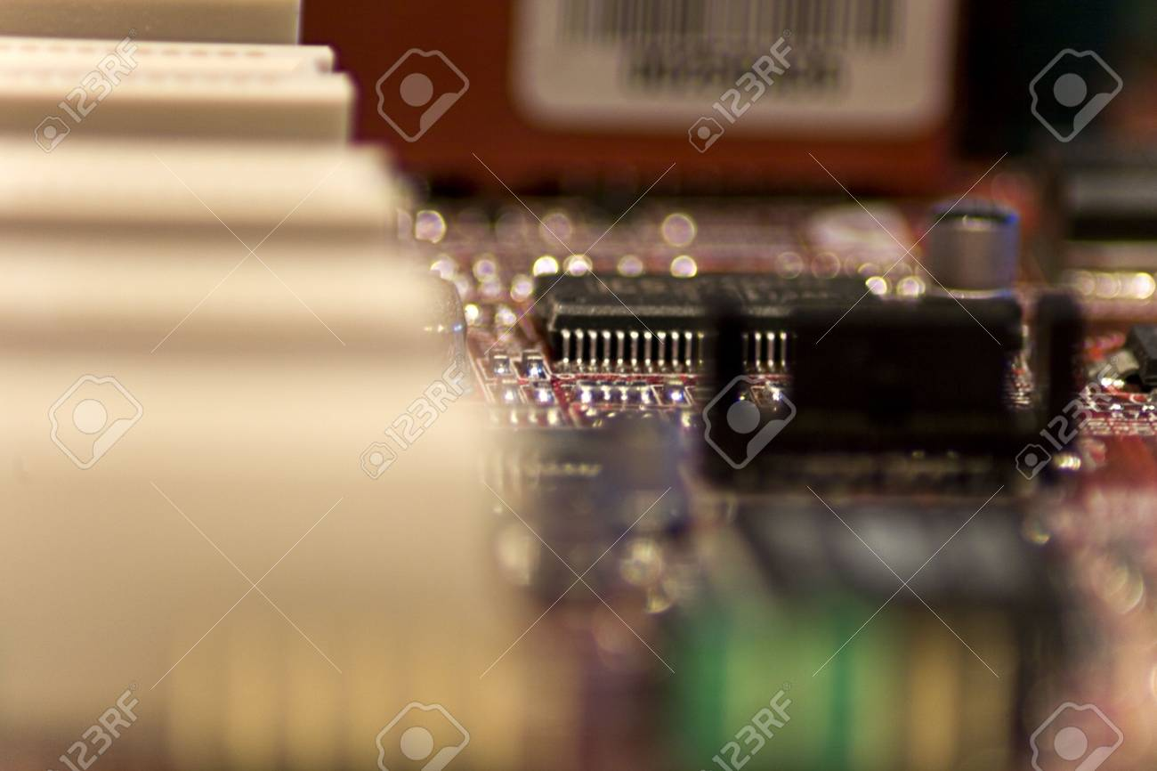Close-up picture of Computer Circuit Board. Stock Photo - 2740613