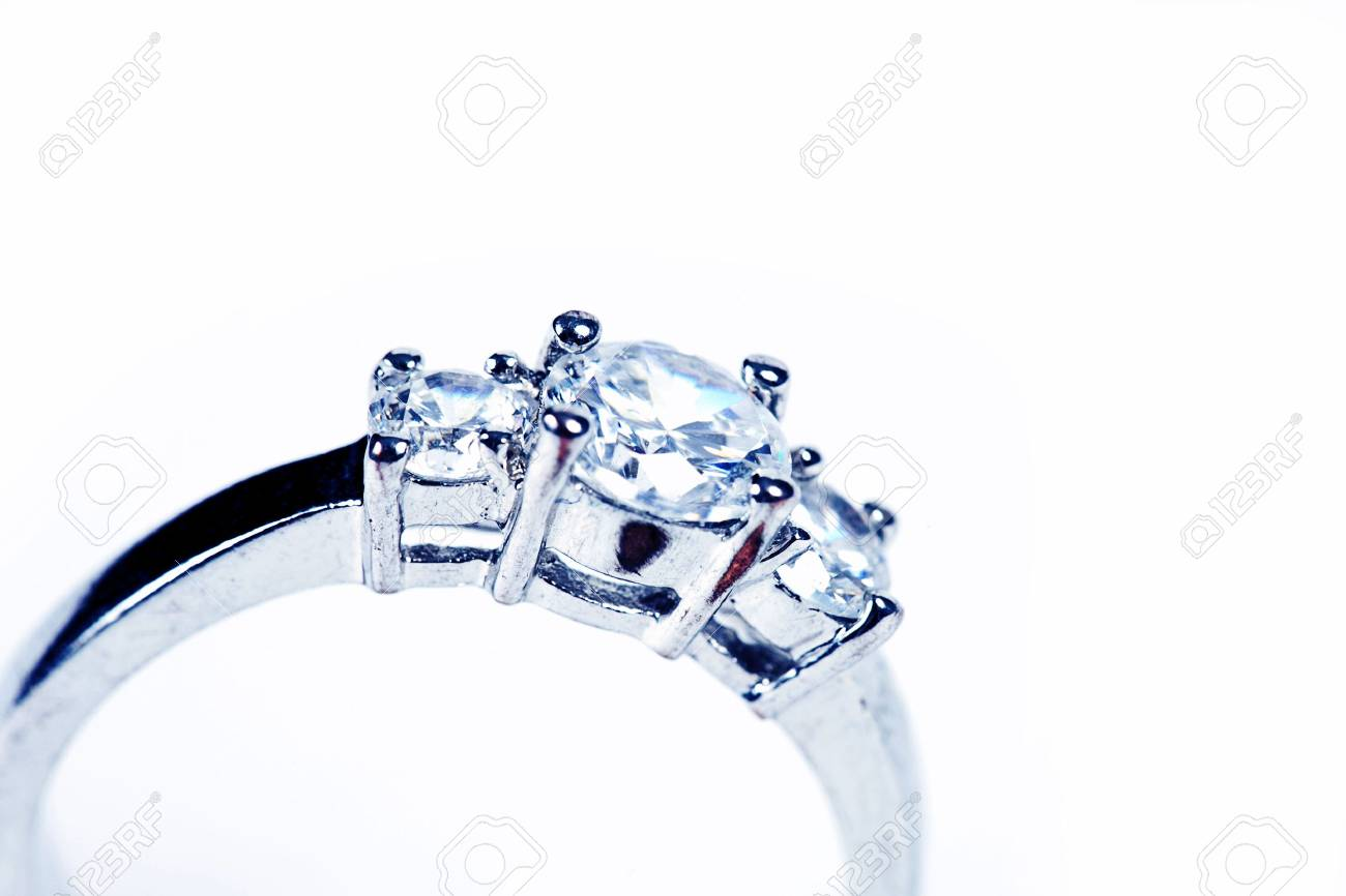 Wedding Ring or Engagement Ring on white - 3063858